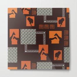 African Tribal Pattern No. 28 Metal Print