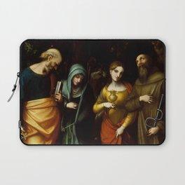 "Antonio Allegri da Correggio ""Saints Peter, Martha, Mary Magdalen, and Leonard"" Laptop Sleeve"