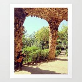 Park Guell Musicana Art Print