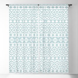 Aztec Essence Ptn IIIb Duck Egg Blue & White Blackout Curtain