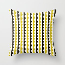 Geometric Pattern #189 (mustard) Throw Pillow