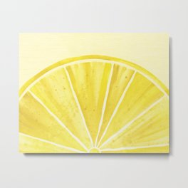 Lemony Goodness Metal Print