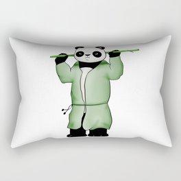 Panda the wild warrior Rectangular Pillow