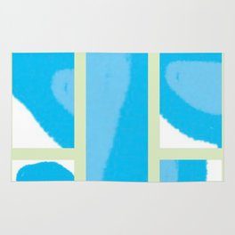 Expressive Windows of Blue and Green Rug