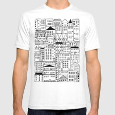 cityscape Mens Fitted Tee SMALL White