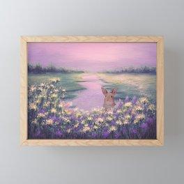 Sunset on Meadow Framed Mini Art Print