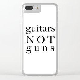 guitars not guns Clear iPhone Case
