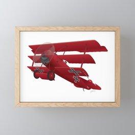 DR-1 Red Baron Triplane WWI Warbird Framed Mini Art Print