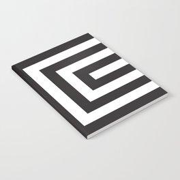 Black Greek Stripes Notebook