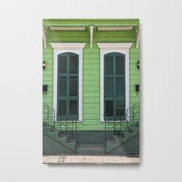Green Creole Cottage Metal Print