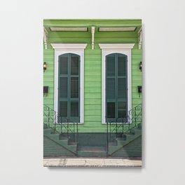 Green Creole Cottage Metal Print