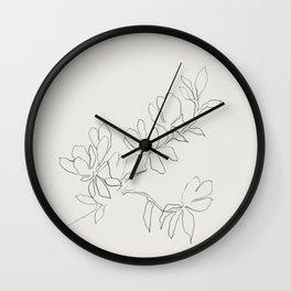 Floral Study no. 4 Wall Clock