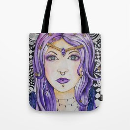 Fantasy gothic watercolor art Tote Bag