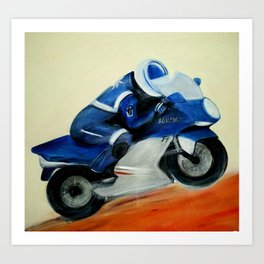 Art, painting, illustration, motorbike Art Print