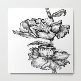 Floral Ink II Metal Print