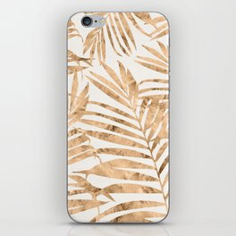 Gold Foil Palm Fronds iPhone Skin
