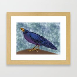 Black Crow Framed Art Print