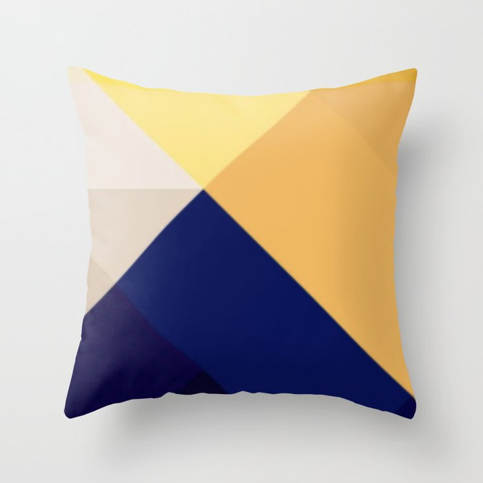Geometric Pattern Abstract Modern Throw Pillow