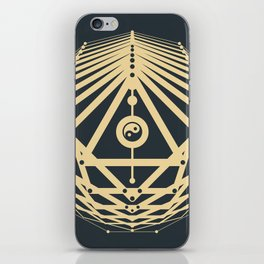 Radiant Abundance (grey-gold) iPhone Skin