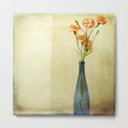 Bottled Carnations Metal Print