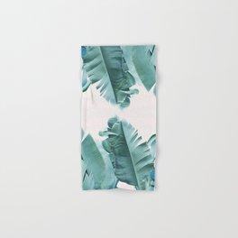 Blue Tropical Banana Leaf Plant Hand & Bath Towel