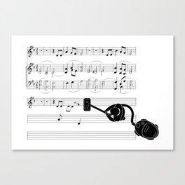 Vacuum sound Canvas Print