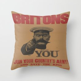Vintage poster - British Military Throw Pillow