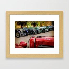 Vintage Aston Martins.  Framed Art Print