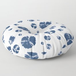 Shibori Polka Splotch Indigo Blue Floor Pillow