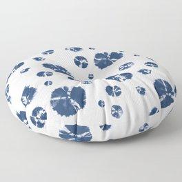 Shibori Polka Splotch Indigo Blue Floor Pillow