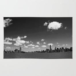 NYC Skyline B&W Rug