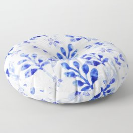 Watercolor Floral VVII Floor Pillow