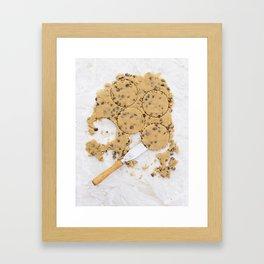 Peanut butter cookie dough Framed Art Print