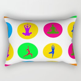 Yoga Poses Rectangular Pillow