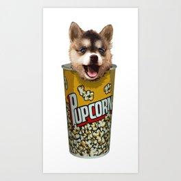 Pupcorn Art Print