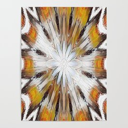Sunburst Abstract Poster