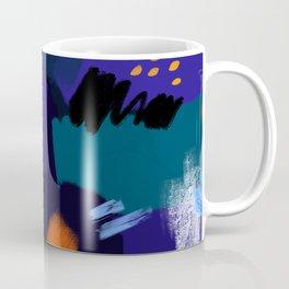 Blue Brush Stokes Coffee Mug