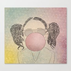 girl with a gum Canvas Print