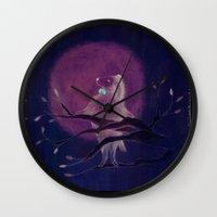 dog Wall Clocks featuring dog by maria elina