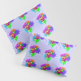 Lion Pattern Wpap Style Light Blue background Pillow Sham