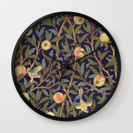 William Morris Bird And Pomegranate Wall Clock