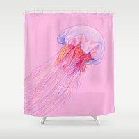 jellyfish Shower Curtains featuring Jellyfish by ShaMiLa