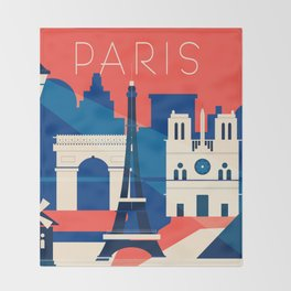 Abstract Paris Throw Blanket