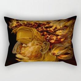 "Giuseppe Arcimboldo ""Four elements - Fire"" Rectangular Pillow"