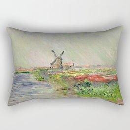 Monet, Tulip Field in Holland, 1886 Rectangular Pillow