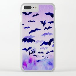 Bats and Dawn Clear iPhone Case