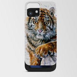 Tiger watercolor iPhone Card Case