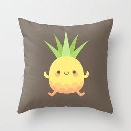 Happy pineapple kids Throw Pillow