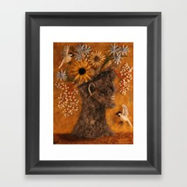 The Face Vase Framed Art Print
