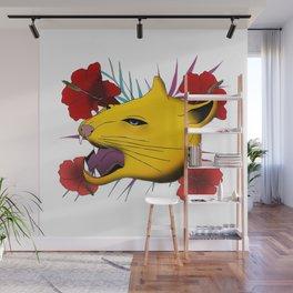 Flower Feline Wall Mural